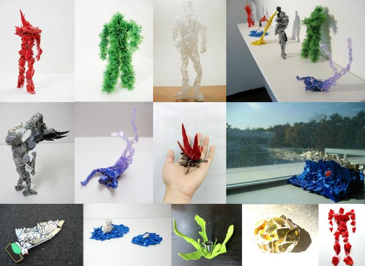FRAGMENTS, plastic, 2010