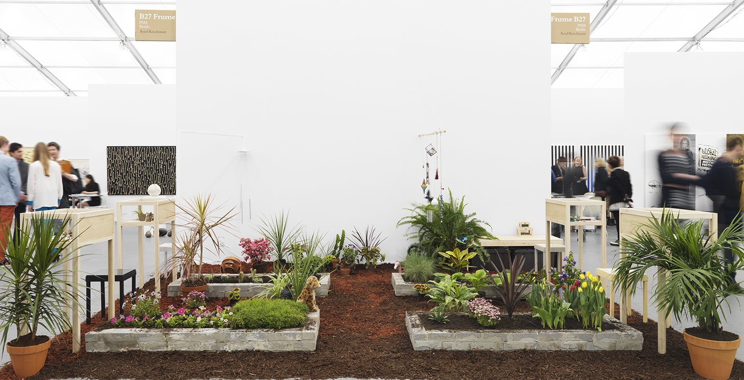Ariel Reichman. Regarding the Memory of Others, 2014 plants, vitrines, stone, objects, mixed media. dimensions variable