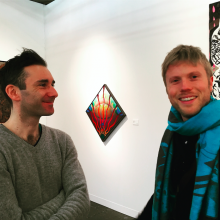 RU residents Alfons Knogl and Peter Depelchin at the Armory Show 2016