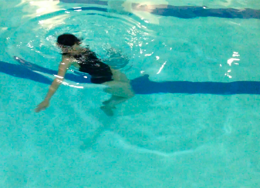 Kanako Hayashi, Practice for water dance, 2016. Still image from video, courtesy of the artist