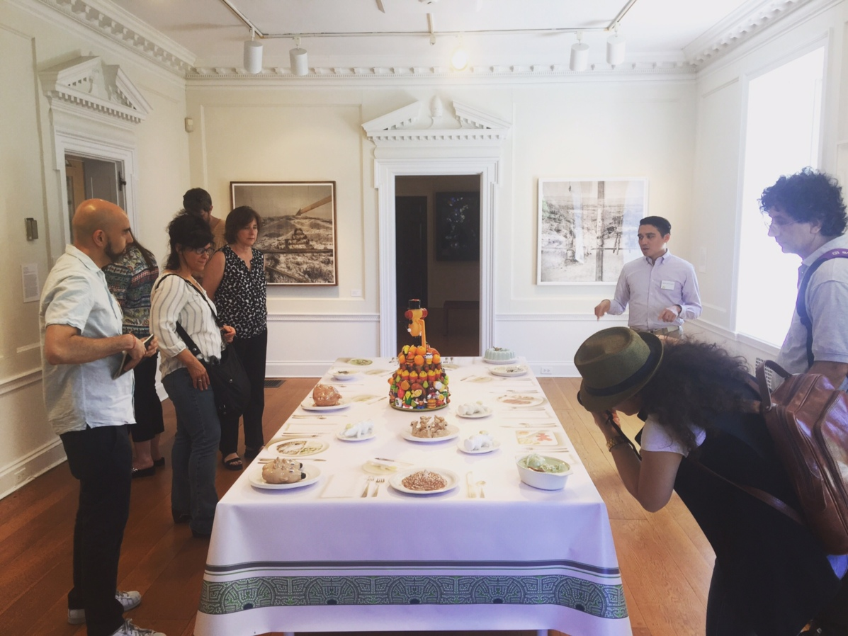 RU's artists and staff are enjoying artworks and the space instructed by Gabirel de Guzman, the Curator of Visual Arts at Wave Hill Gardens, Bronx, NY.