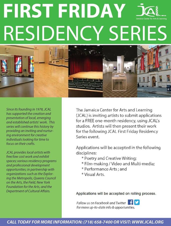 FREE One-Month Residency at The Jamaica Center for Arts and Learning