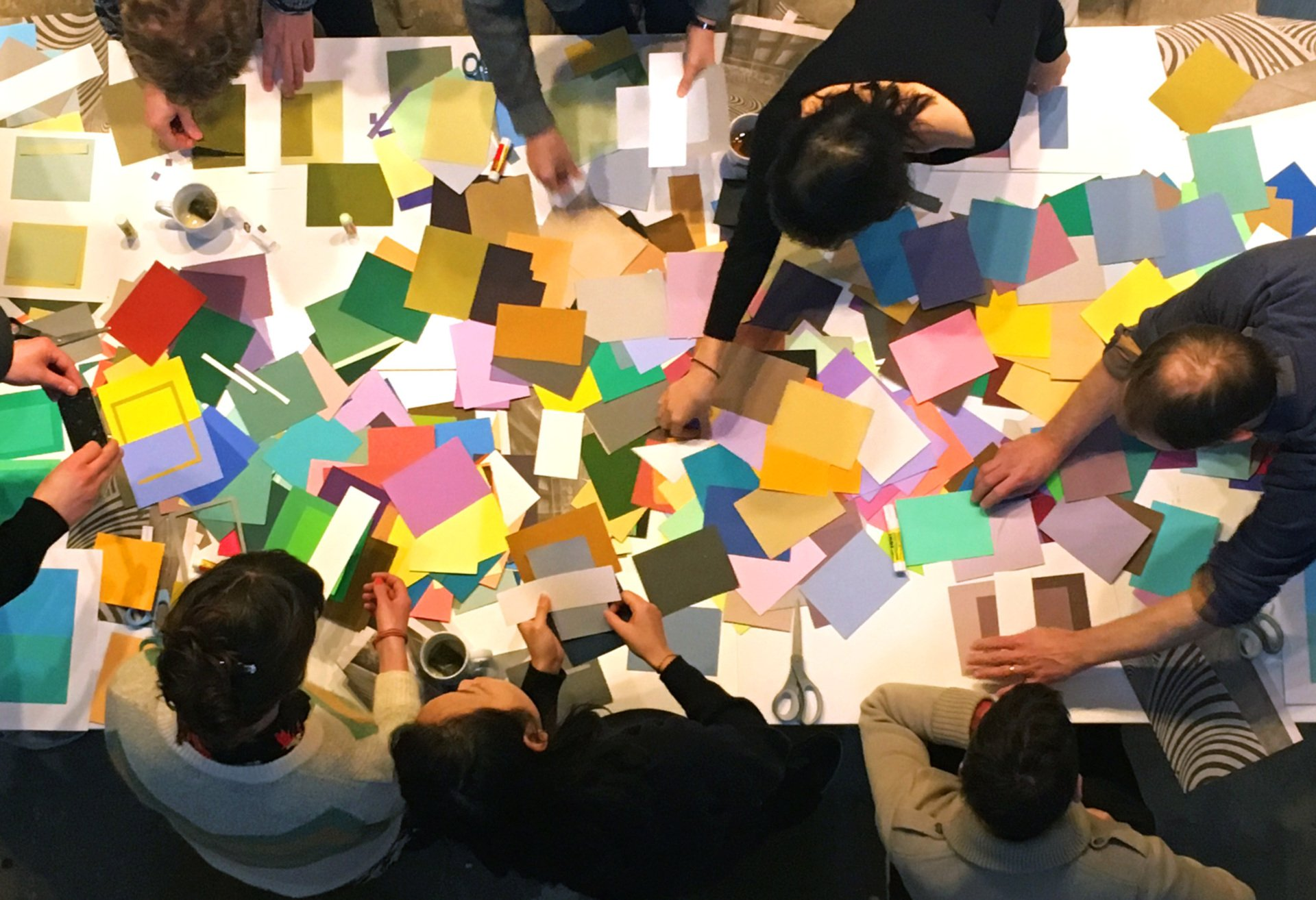Color Explosion - RU Artists search for the perfect color match that will meet original Albers' assignment