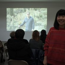 Maiko Jinushi during the screeing of her film A Distant Duet