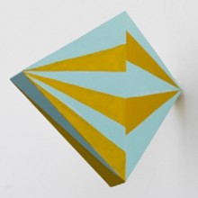 Martha Clippinger, Aero, 2012 acrylic on wood, 24 x 3,8 x 29 cm