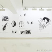 Man on a pillow, drawing installation view, Insa Art Space, 2012