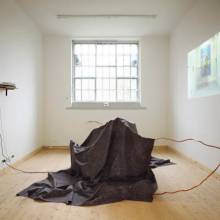 On Sculpture, 2011; Untitled, 2011 Installation view