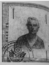 Photograph included with Beyer's 1935 U.S Passport application. Photographer Unknown; copy provisioned by United States Department of State, Passport Services, Department of Legal Affairs