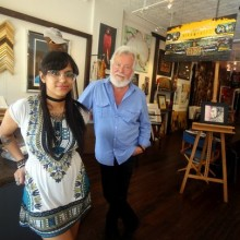 New Rochelle City Councilman Ivar Hyden with artist Maya Menon in Backstreet Gallery and Framing. (Photo: Seth Harrison/The Journal News)