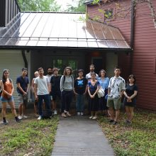 Field trip to Albers Foundation in Connecticut with RU staff Nathalie Anglès, Sebastien Sanz de Santamaria, Kehui Pan and RU artists Ana Prata, Guillaume Bresson, Kai chun Chiang, Özgür Demirci, Jonas Weber Herrera, Shurui Li, Zorica Zafirovska, Sean Wang, Nina Komel, and Kato Six.