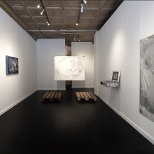by Radouan Zeghidour, curated by Marie Salomé Peyronnel at Catinca Tabacaru Gallery in NYC, 2016, installation view