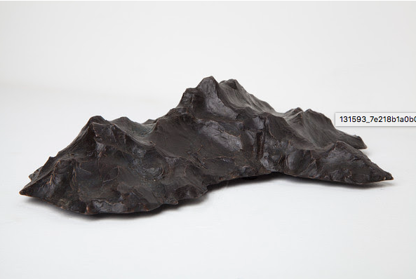 Lucas Maddock, New Hypothetical Continents, 2014. Maquette, bronze, edition of 5 + 1AP, 26 x 20.5 x 8 cm. Photo: Christo Crocker. From Benjamin Matthews and Lucas Maddock, New Hypothetical Continents, 2017.
